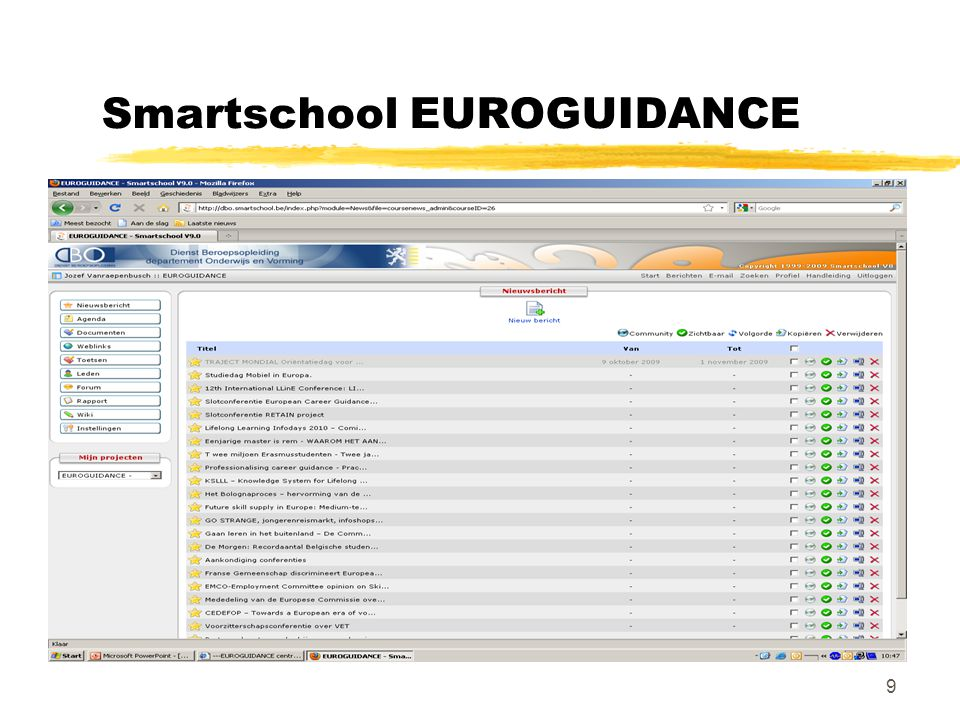 9 Smartschool EUROGUIDANCE