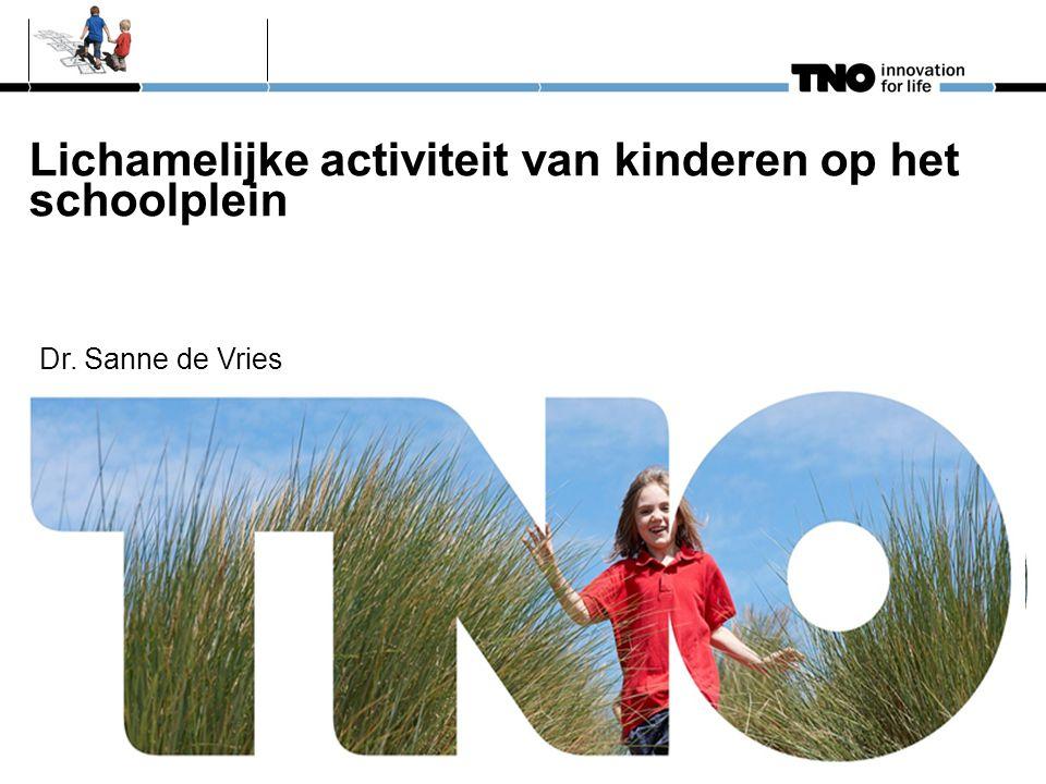Lichamelijke activiteit van kinderen op het schoolplein Dr. Sanne de Vries