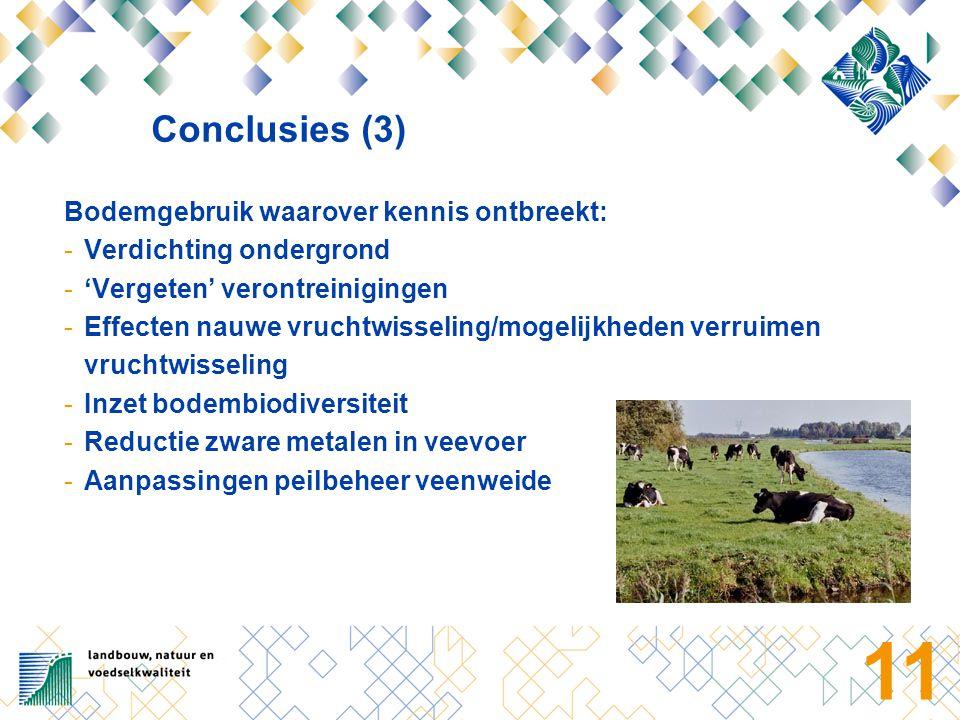 12 Voorstel Actieprogramma 2006 1.Kennisontwikkeling -Aanpak kennisleemten -Voortzetten huidige kennisopbouw -Vervolgonderzoek duurzaam bodemgebruik: grotere schaal (tijd, ruimte, actoren) 2.Kennisverspreiding / communicatiestrategie -Voordelen duurzaam bodemgebruik -Alternatieven voor niet-duurzaam bodemgebruik