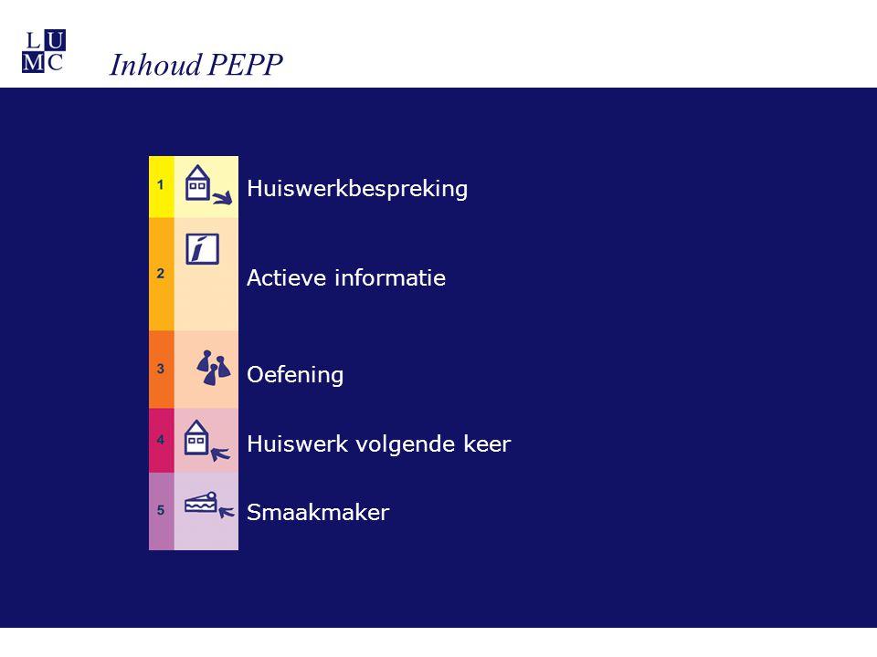 Huiswerkbespreking Actieve informatie Oefening Huiswerk volgende keer Smaakmaker