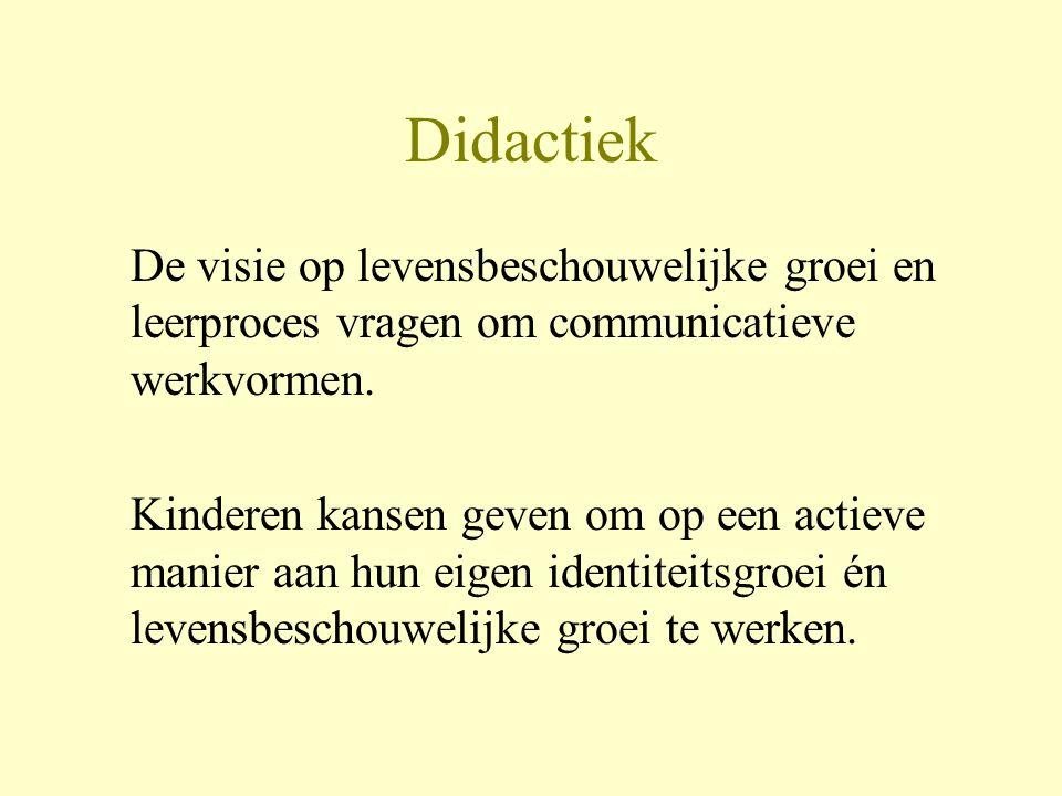 Didactiek •Kinderen ernstig nemen met hun vragen bijvoorbeeld vragen van 5-6 jarigen ivm dood en leven na de dood.