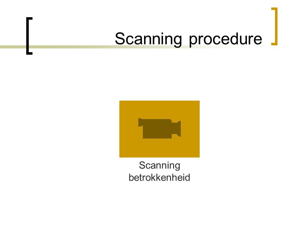 Scanning procedure Scanning betrokkenheid