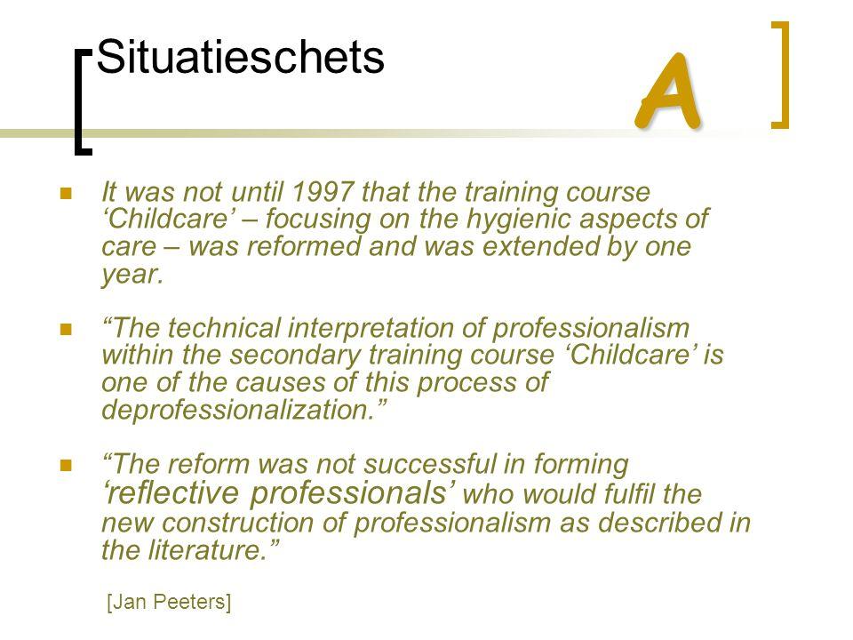 Situatieschets  Een paradoxale situatie  Hogere kwaliteitseisen  Een opleiding die geen gelijke tred houdt Vrijmaking van de 'markt'  Welke opleiding is er nodig.