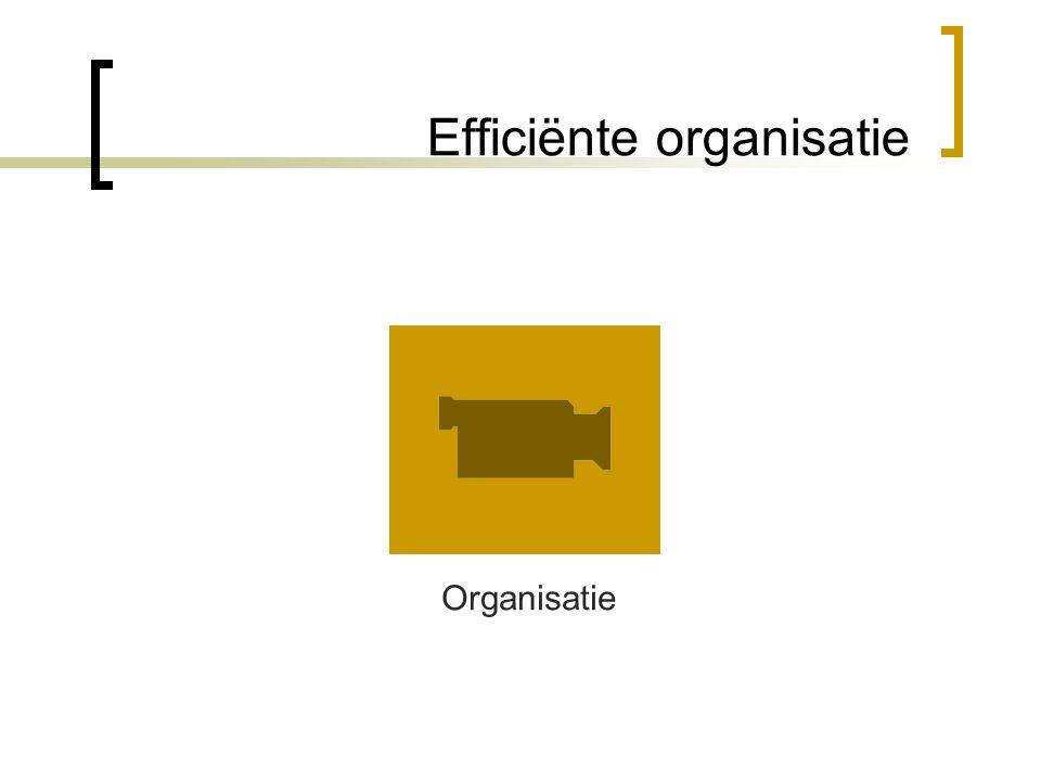 Efficiënte organisatie Organisatie