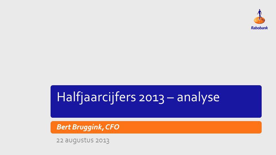 Titeldia Halfjaarcijfers 2013 – analyse Bert Bruggink, CFO 22 augustus 2013