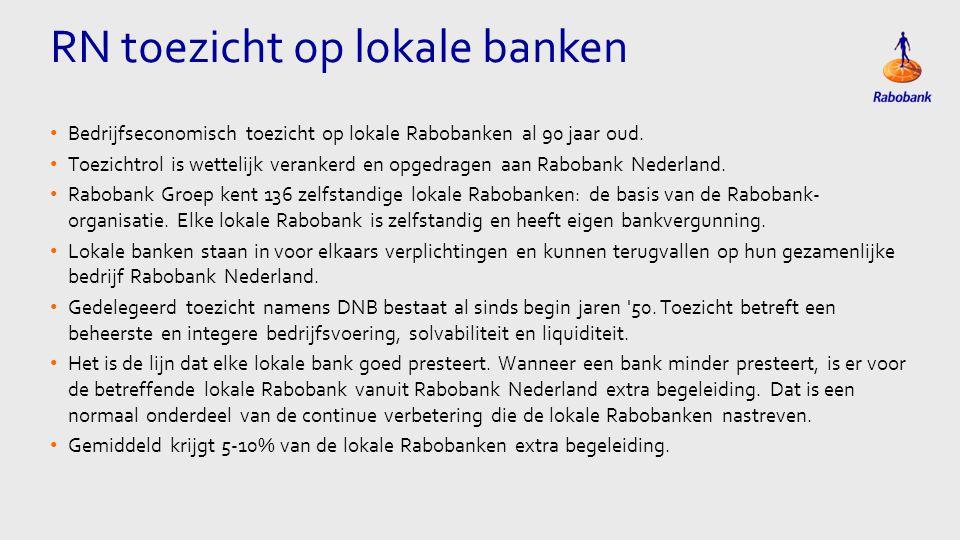 Eén kolom Tekst • Bedrijfseconomisch toezicht op lokale Rabobanken al 90 jaar oud.