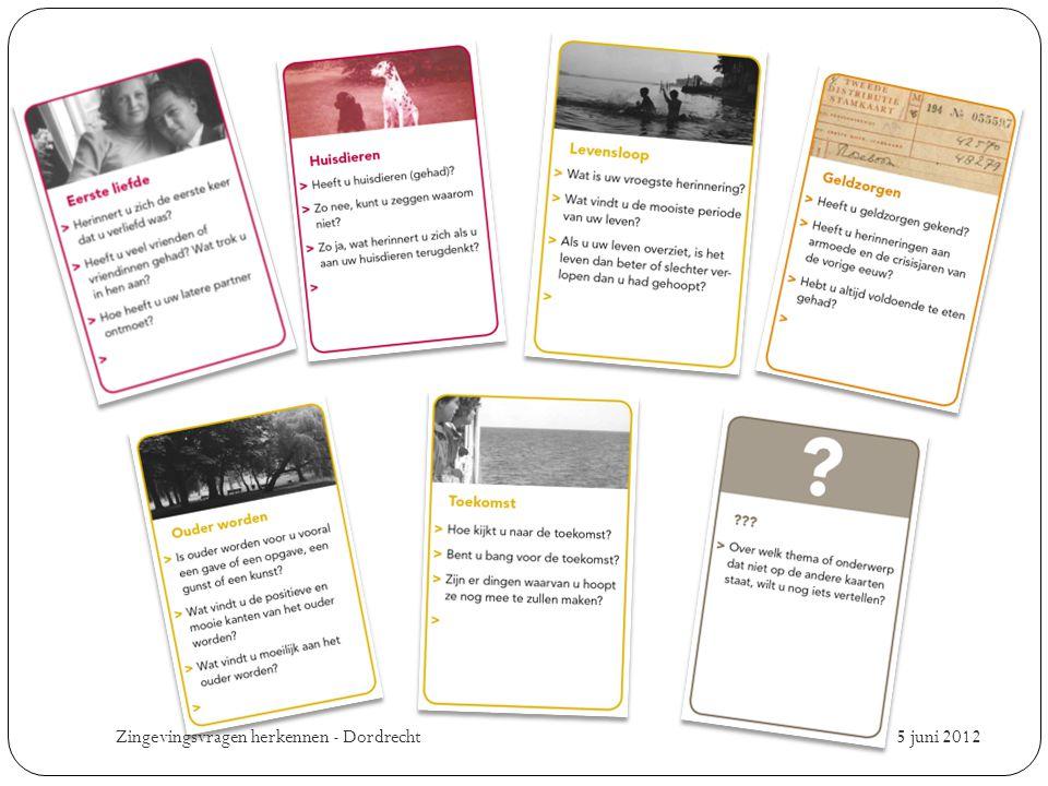 5 juni 2012 Zingevingsvragen herkennen - Dordrecht