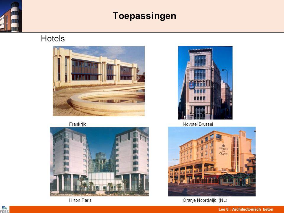 Les 8 : Architectonisch beton Toepassingen Handelsgebouwen Commerciëel gebouw Frankrijk Supermarkt St-Lambrechts-Woluwe Shoppping center WijnegemWinkel Sint-Martens-Latem