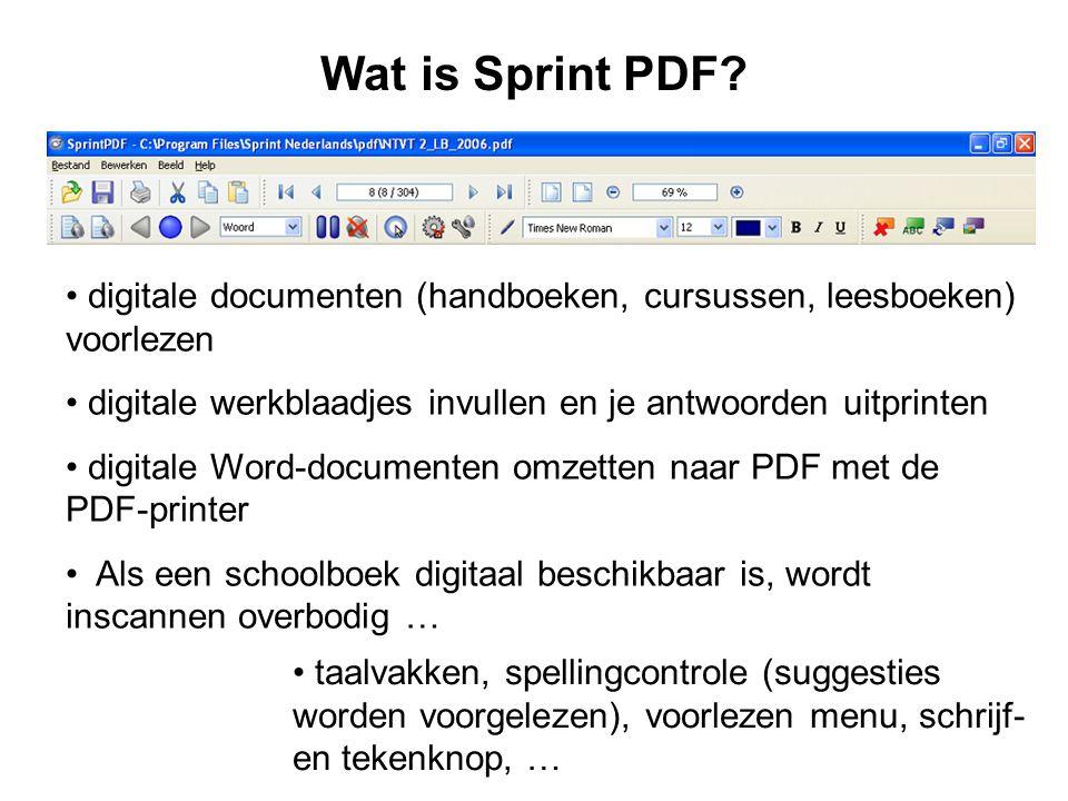 Wat is Sprint PDF.