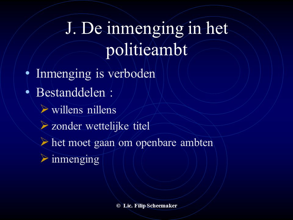 © Lic. Filip Scheemaker I. Wettige verdediging • Aanvalsdaad versus afweringsdaad • Aanvalsdaad : - onrechtmatig - nakend en onafwendbaar - een aansla