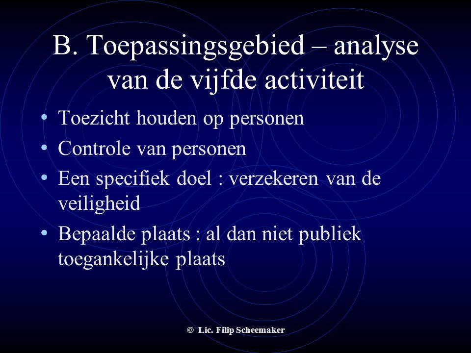 A. inleiding • Portierswet van 1999 • Drie doelstellingen :  sanering securitydiensten evenementensector  statuut geven aan bewakers-persoonscontrol