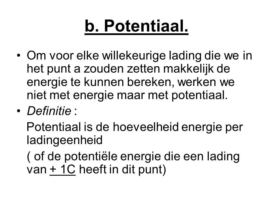 b.Potentiaal.