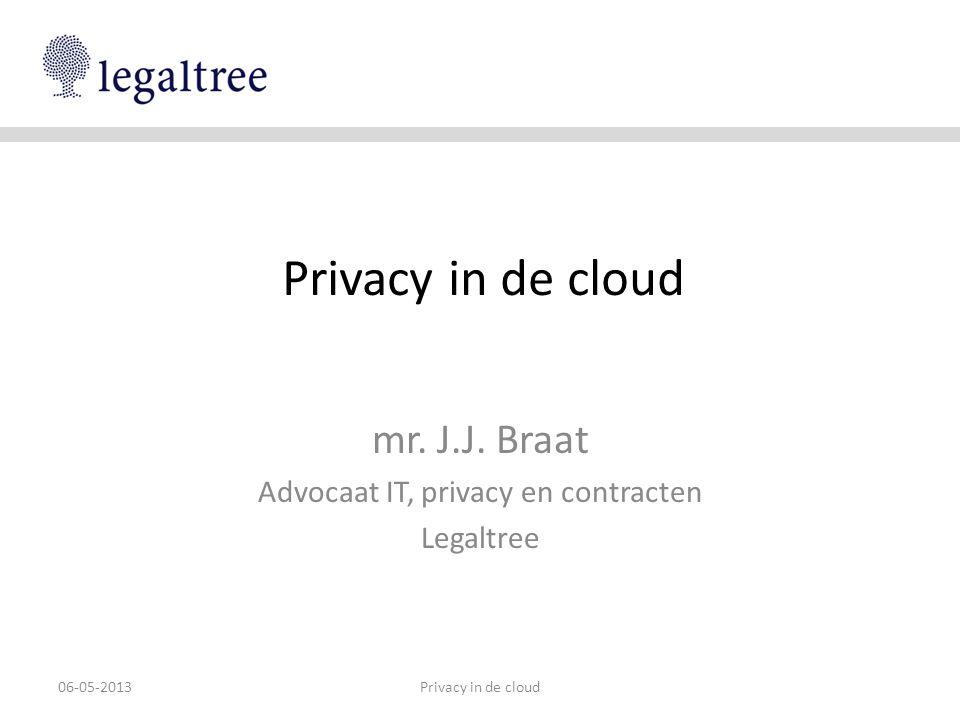 Partijen • Verantwoordelijke: alle verplichtingen • Cloud service provider = bewerker • Beveiligingsplicht • Geheimhoudingsplicht • Andere CSP´s = sub-bewerkers • Idem, o.b.v.