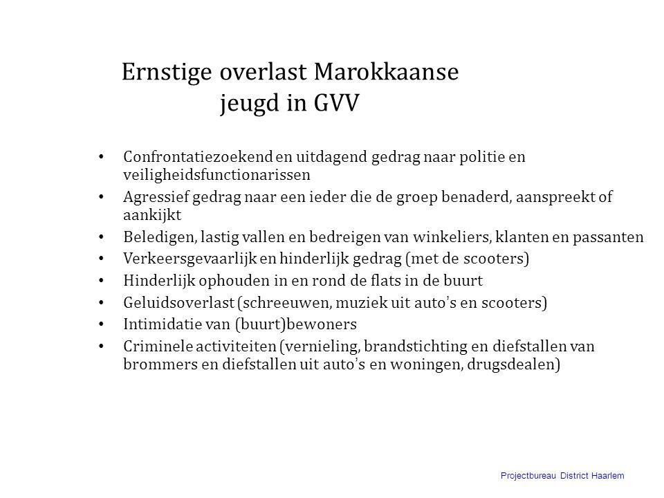 """Projectbureau District Haarlem Beeld van de politie in GVV • Een beeld van de politie als """"de vijand"""" en in sommige delen van de buurt niet welkom. •"""
