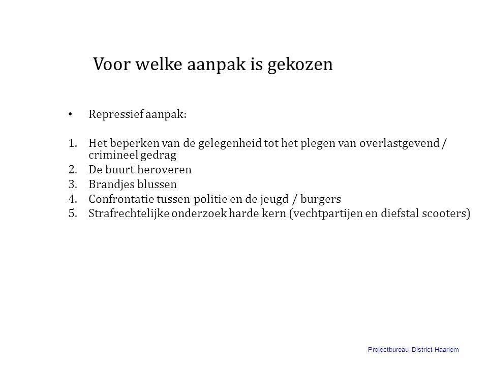 Projectbureau District Haarlem Incidenten in GVV • Jaarwisseling 2004/2005 • Openlijke geweldpleging zomer 2005 • Bedreiging buschauffeur juni 2006 en