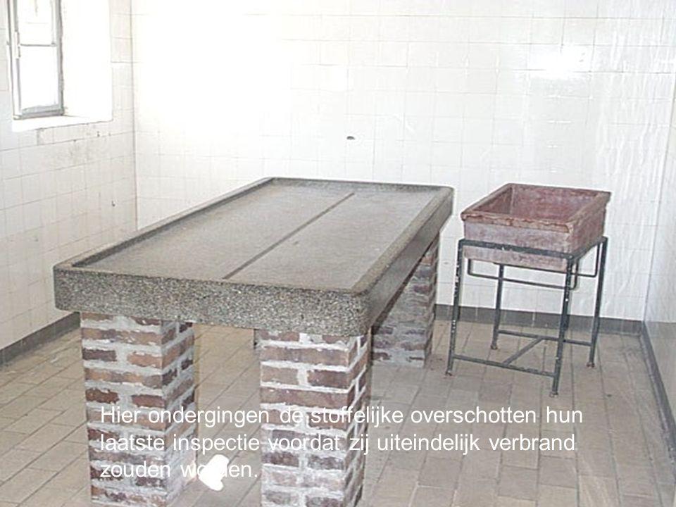 Konzentrationslager Mauthausen Hier ondergingen de stoffelijke overschotten hun laatste inspectie voordat zij uiteindelijk verbrand zouden worden.