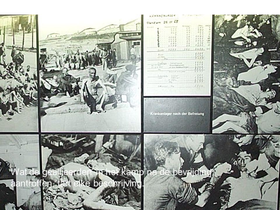 Wat de geallieerden in het kamp na de bevrijding aantroffen, tart elke beschrijving.