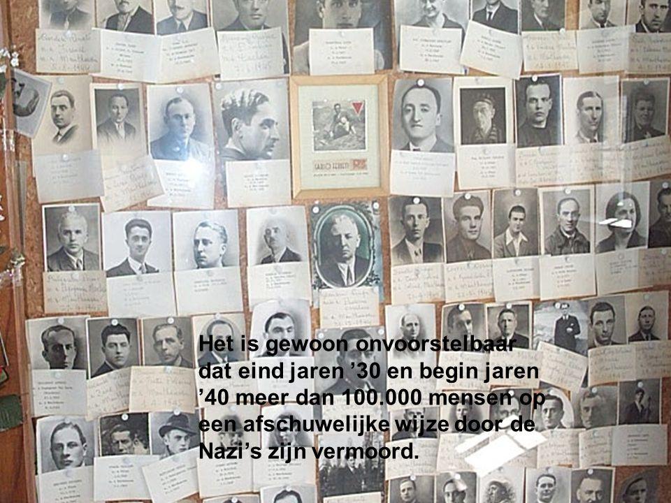 Het was de Nazi-beulen er om te doen om zoveel mogelijk Joden, zigeuners, homo-sexuelen, gehandicapten, politieke tegenstanders, communisten, oproerkraaiers en misdadigers te vermoorden.