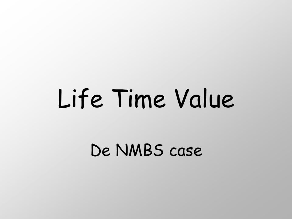 Life Time Value De NMBS case