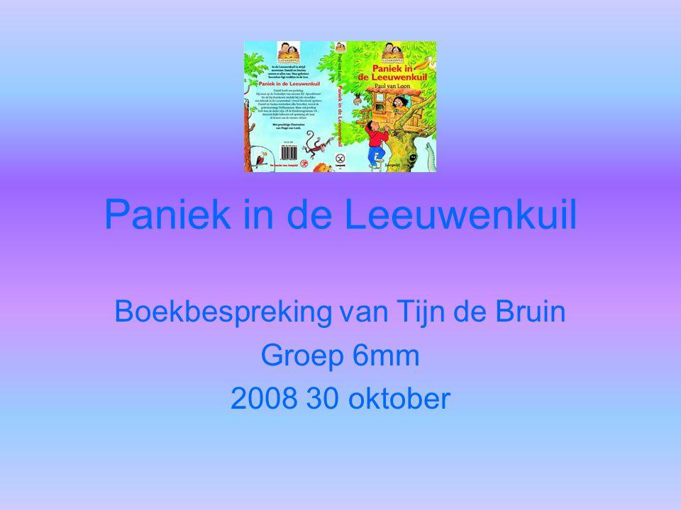 Paniek in de Leeuwenkuil Boekbespreking van Tijn de Bruin Groep 6mm 2008 30 oktober