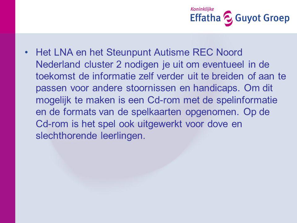•Het LNA en het Steunpunt Autisme REC Noord Nederland cluster 2 nodigen je uit om eventueel in de toekomst de informatie zelf verder uit te breiden of