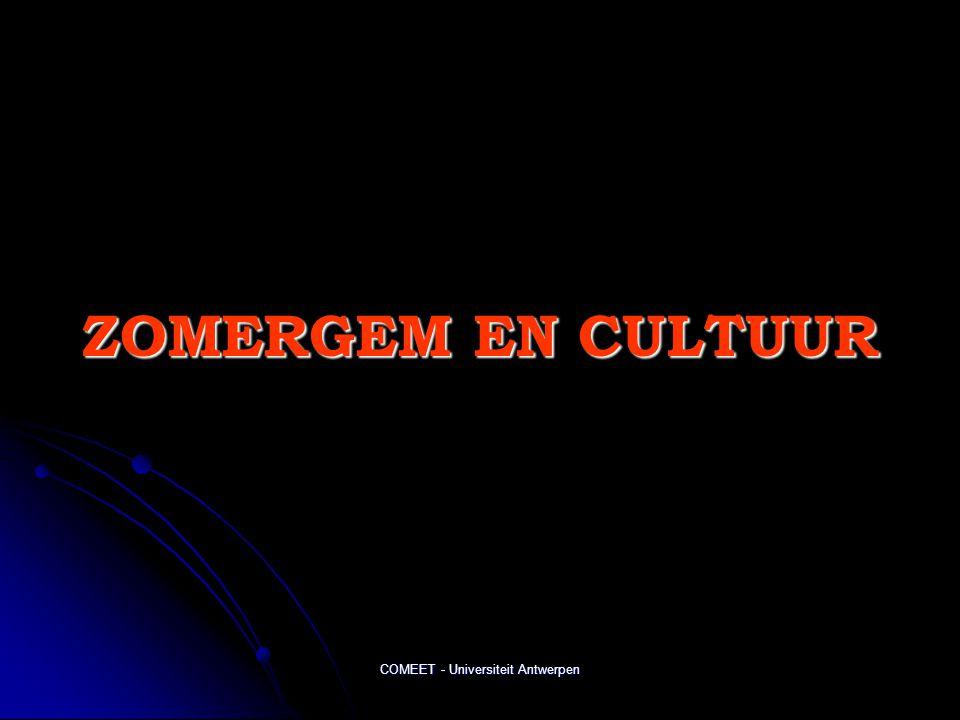 COMEET - Universiteit Antwerpen ZOMERGEM EN CULTUUR