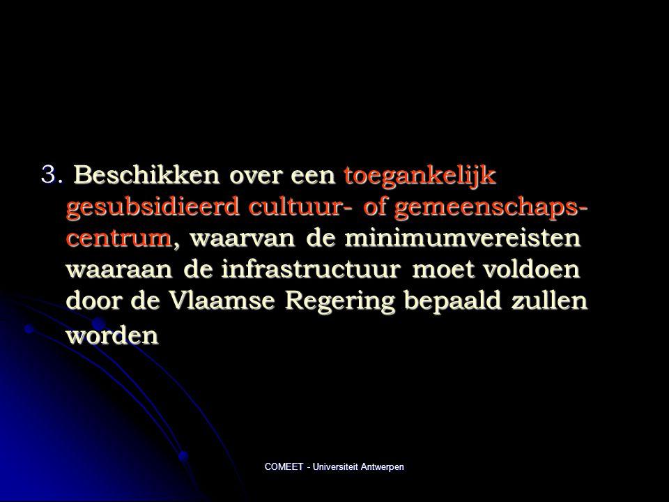 COMEET - Universiteit Antwerpen 3.