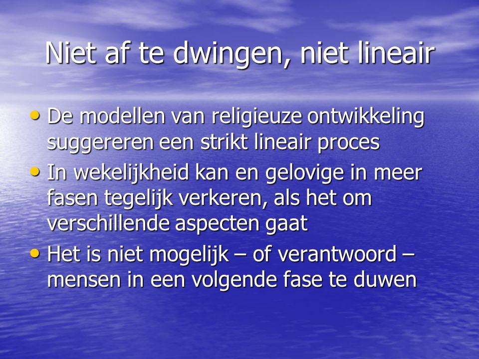 Toets vragen 1.Welke plaats neemt religieuze ontwikke- ling in het model van Van der Vloet in.