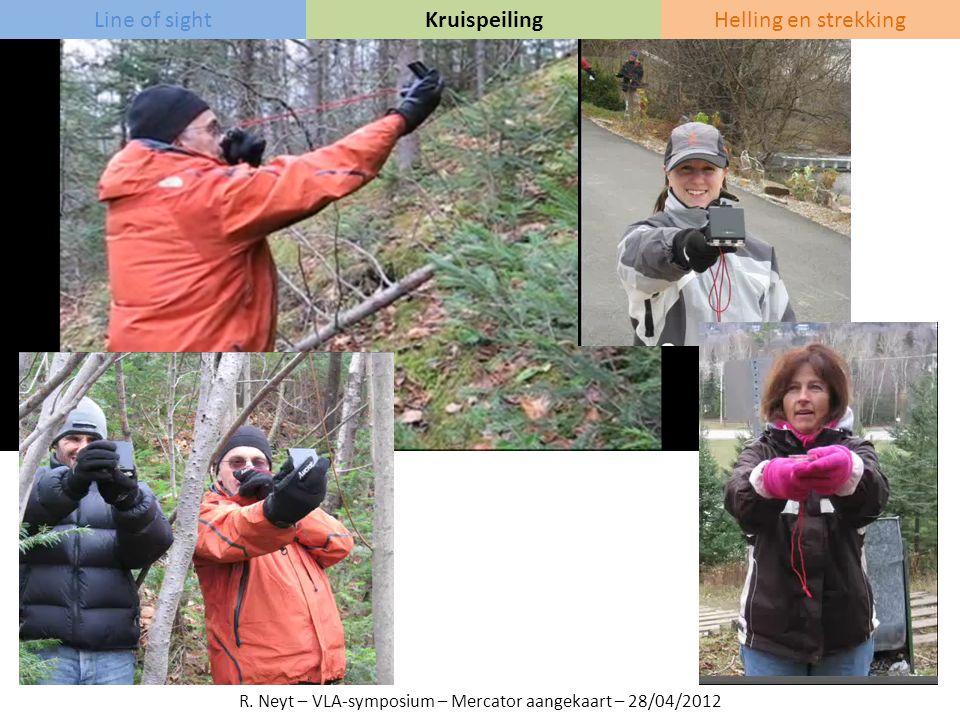 Line of sightKruispeilingHelling en strekking R. Neyt – VLA-symposium – Mercator aangekaart – 28/04/2012