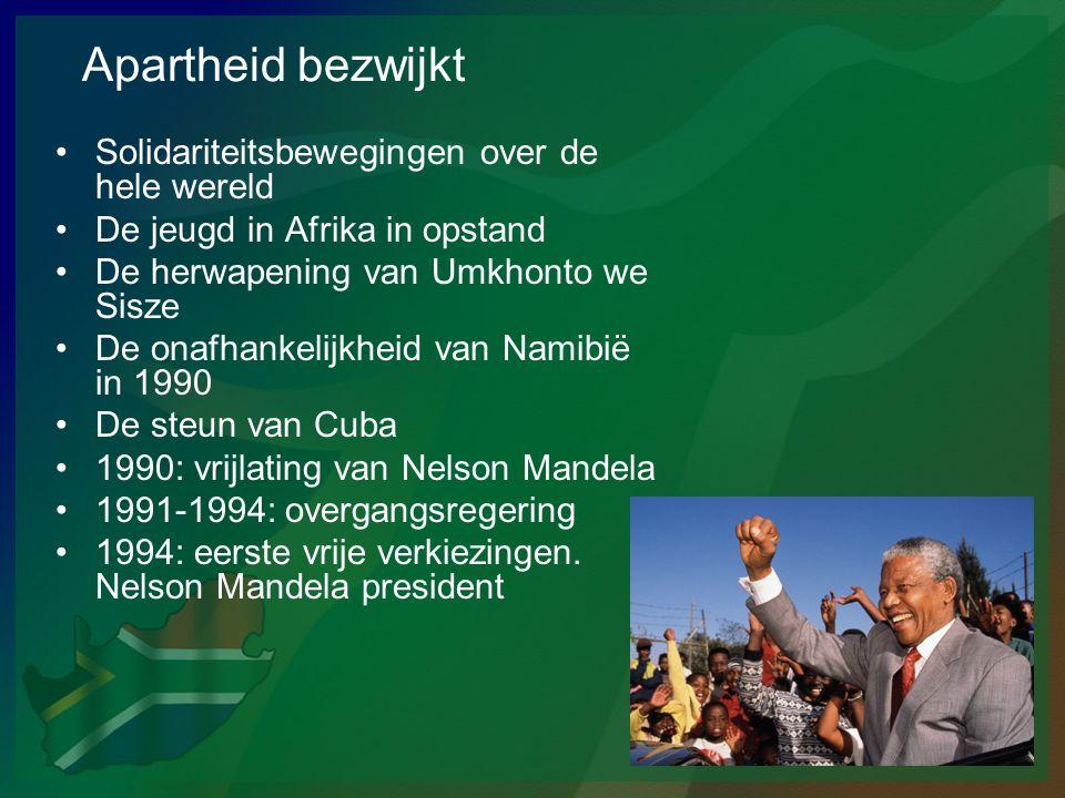 Apartheid bezwijkt •Solidariteitsbewegingen over de hele wereld •De jeugd in Afrika in opstand •De herwapening van Umkhonto we Sisze •De onafhankelijk