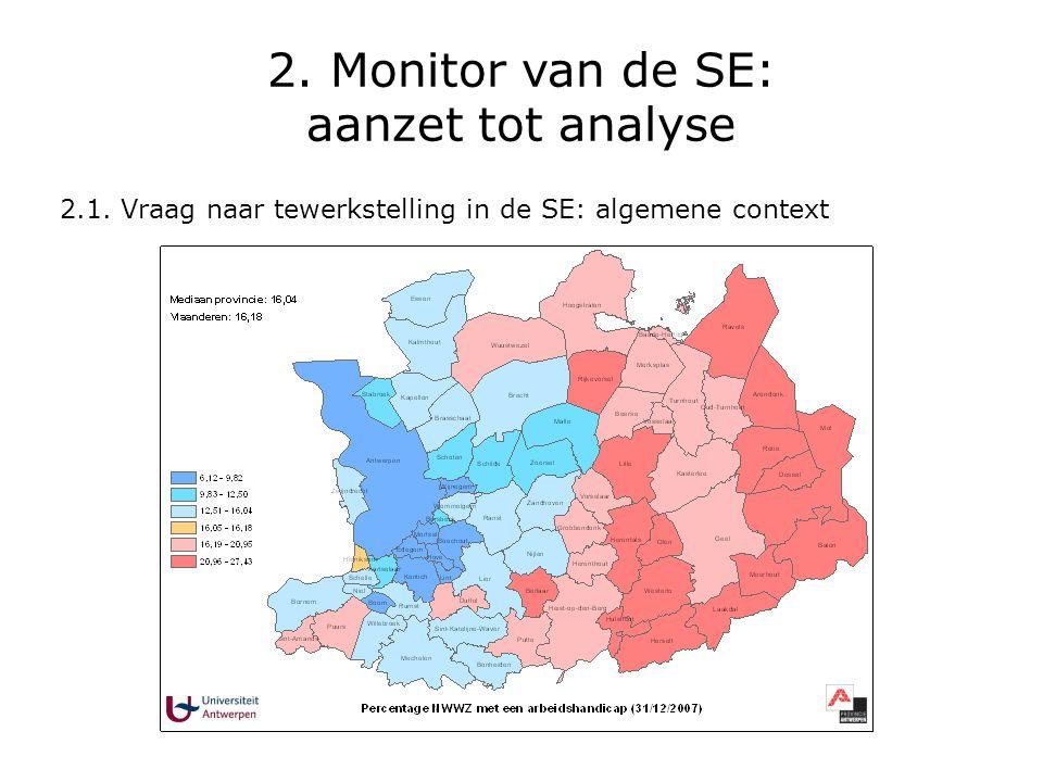2. Monitor van de SE: aanzet tot analyse 2.1. Vraag naar tewerkstelling in de SE: algemene context
