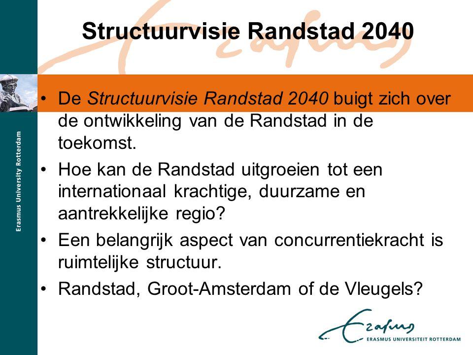 Structuurvisie Randstad 2040 •De Structuurvisie Randstad 2040 buigt zich over de ontwikkeling van de Randstad in de toekomst. •Hoe kan de Randstad uit