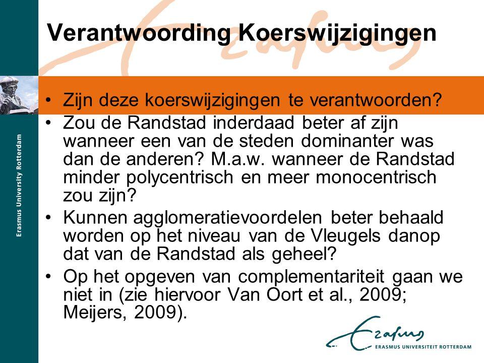 Beleidsimplicaties •De uitkomsten gelden voor Amerikaanse metropolitane regio's en het is niet bekend in hoeverre ze ook opgaan voor Nederland in het algemeen en de Randstad in het bijzonder.
