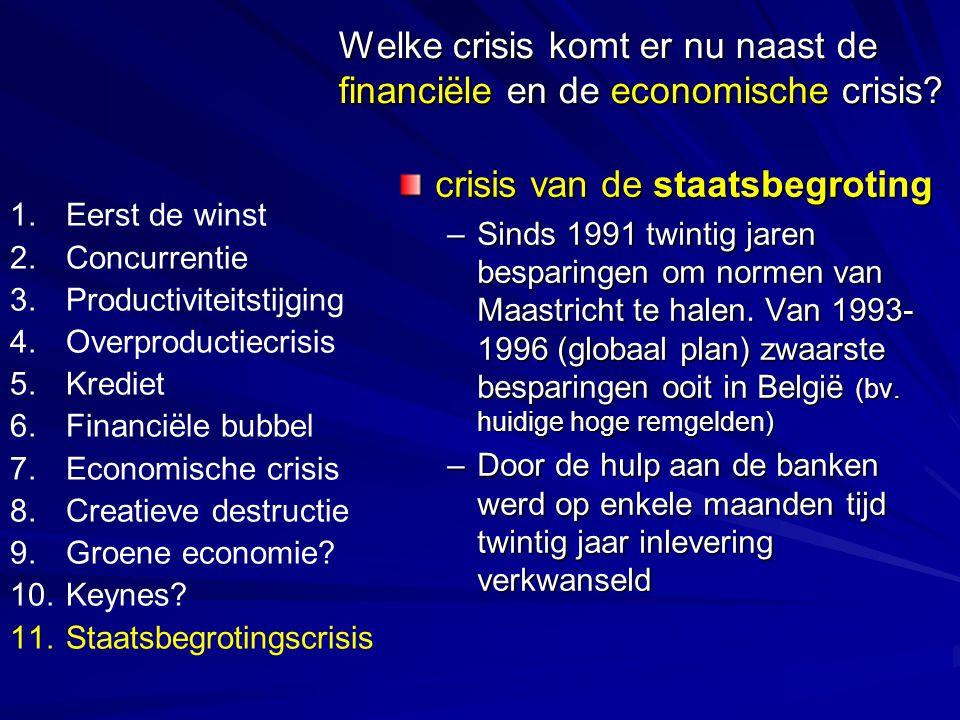 Welke crisis komt er nu naast de financiële en de economische crisis.