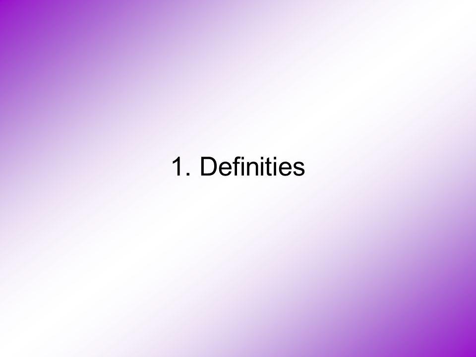 1. Definities