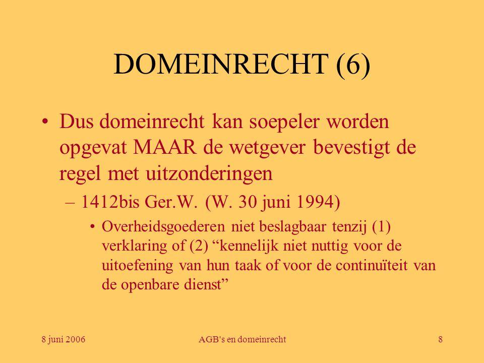 8 juni 2006AGB s en domeinrecht9 DOMEINRECHT (7) –PPS-decreet (Decr.Vl.P.