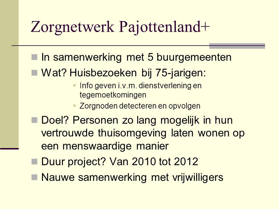 Zorgnetwerk Pajottenland+  In samenwerking met 5 buurgemeenten  Wat.