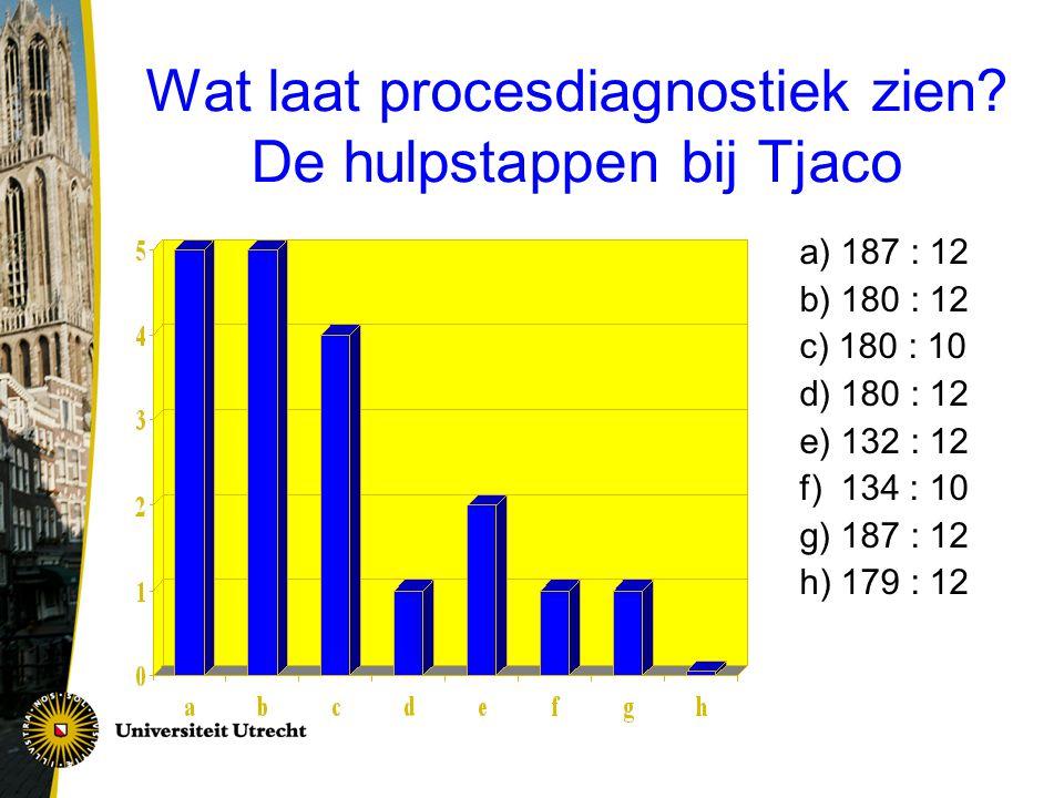 Wat laat procesdiagnostiek zien.