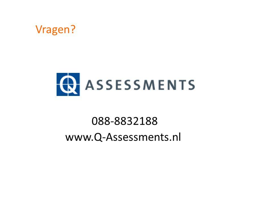 088-8832188 www.Q-Assessments.nl Vragen?