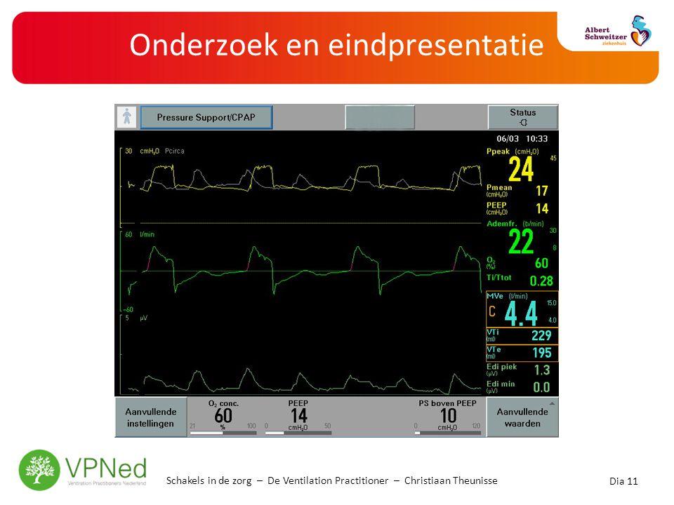 Onderzoek en eindpresentatie Dia 11 Schakels in de zorg – De Ventilation Practitioner – Christiaan Theunisse