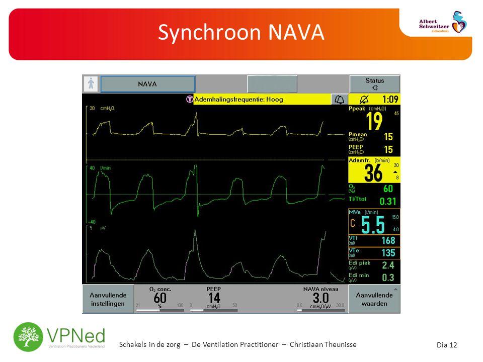 Synchroon NAVA Schakels in de zorg – De Ventilation Practitioner – Christiaan Theunisse Dia 12