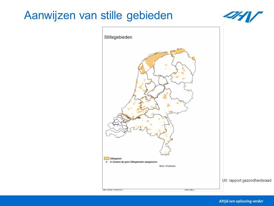 Aanwijzen van stille gebieden Uit: rapport gezondheidsraad