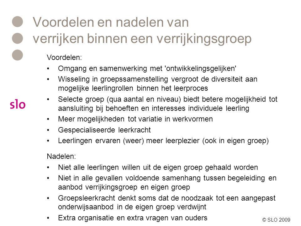 Vragen? http://www.infohoogbegaafd.nl/hbpo/vragen/ © SLO 2009