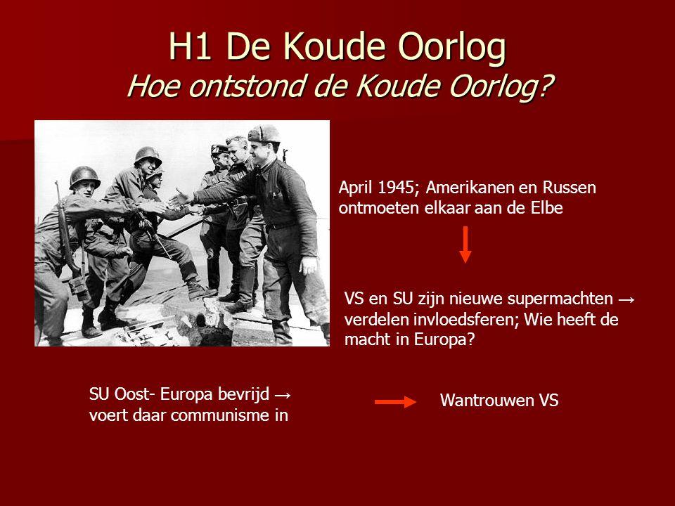 H1 De Koude Oorlog Hoe ontstond de Koude Oorlog.