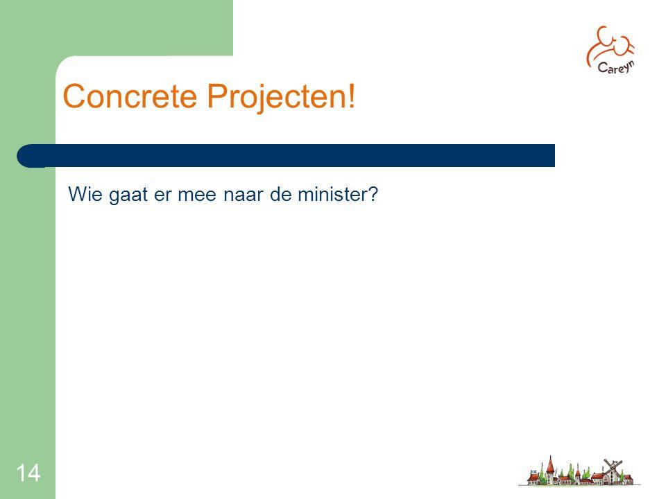 14 Concrete Projecten! Wie gaat er mee naar de minister?