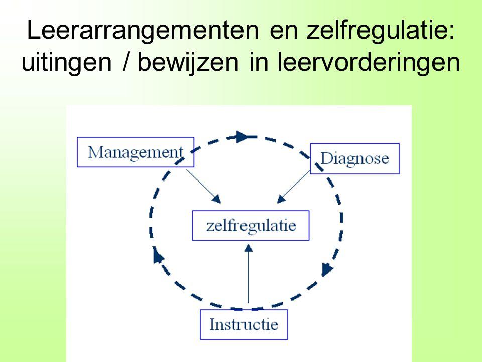 © Celstec / OU & ITS / RU (2009) Leerarrangementen en zelfregulatie: uitingen / bewijzen in leervorderingen