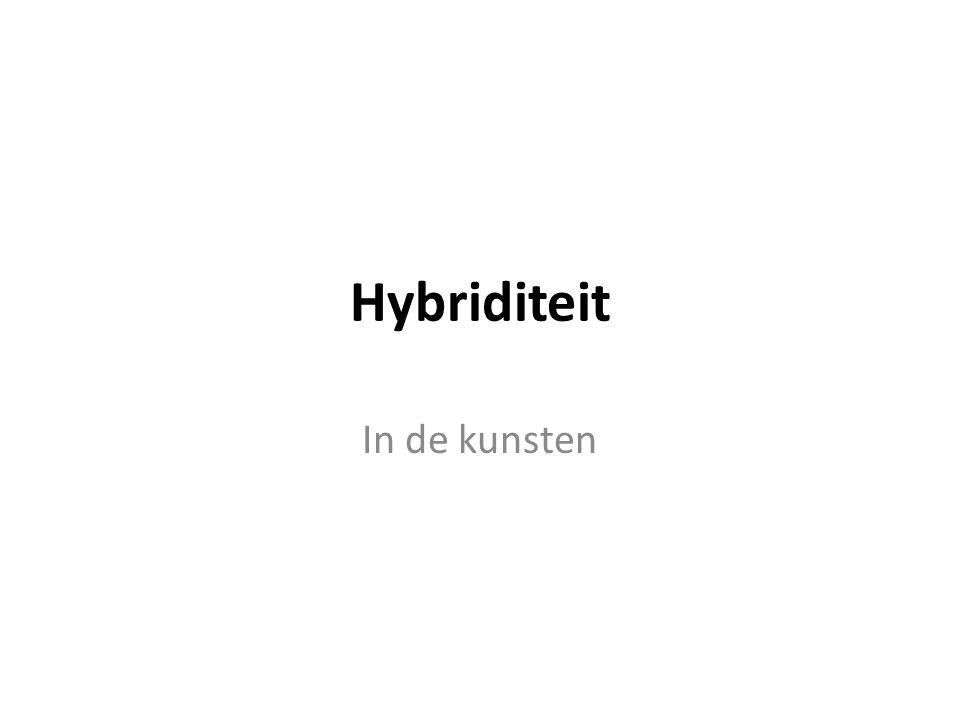 Hybriditeit In de kunsten