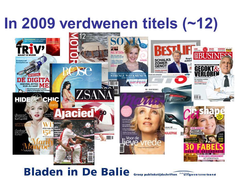 In 2009 verdwenen titels (~12)