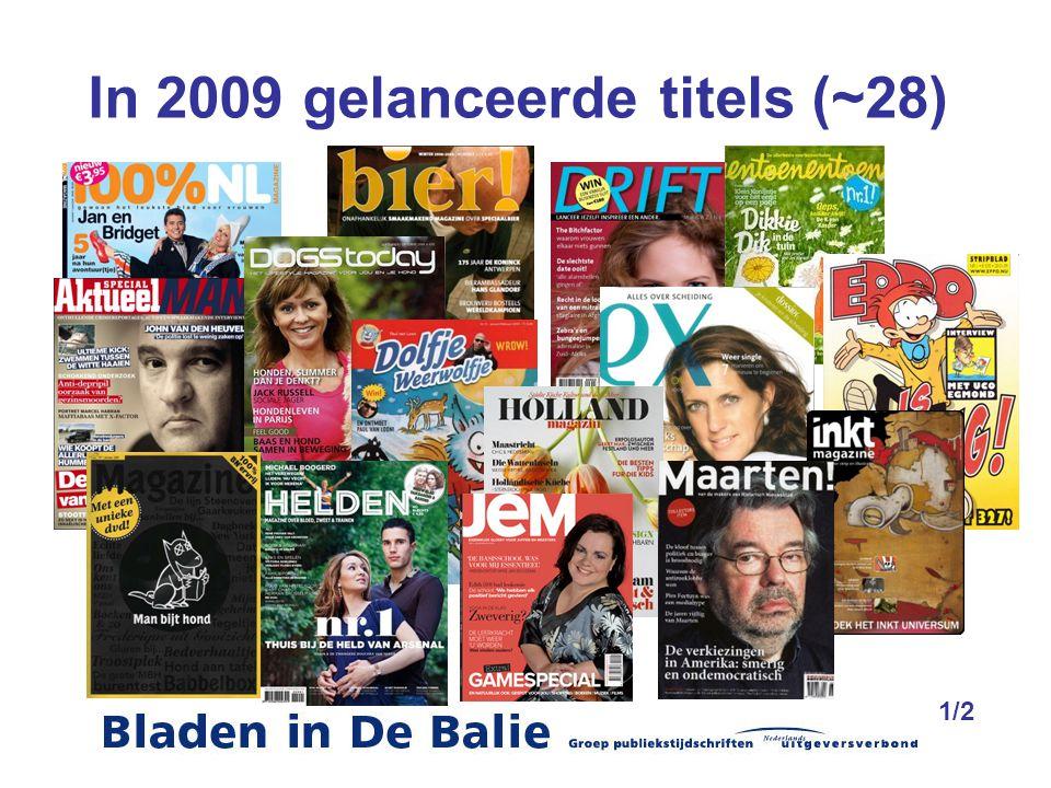 In 2009 gelanceerde titels (~28) 1/2