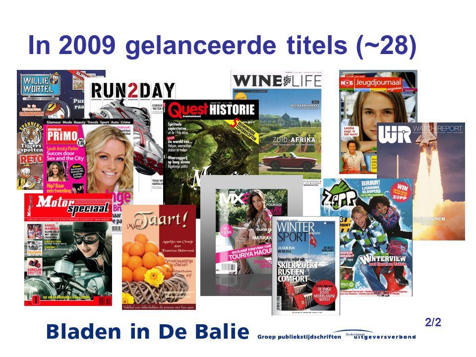 In 2009 gelanceerde titels (~28) 2/2
